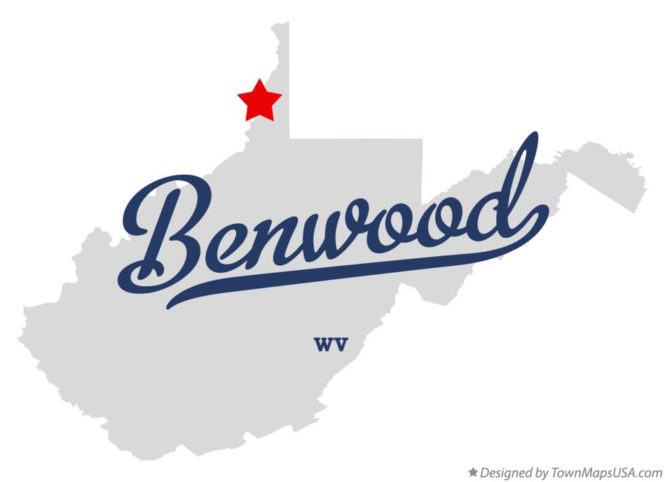 Map of Benwood West Virginia WV