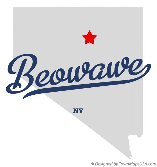 Map of Beowawe Nevada NV