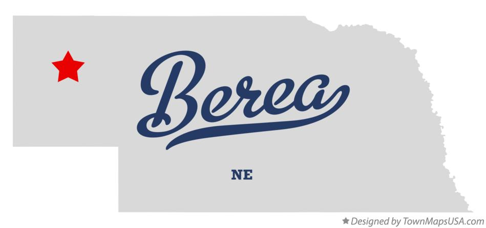 Map of Berea Nebraska NE