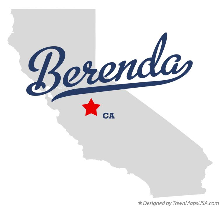 Map of Berenda California CA