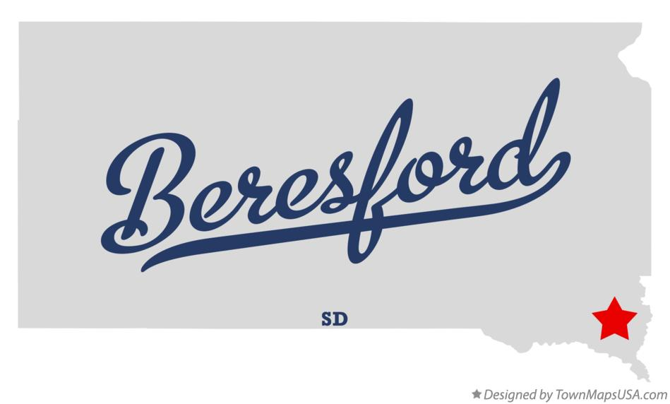 Map of Beresford South Dakota SD
