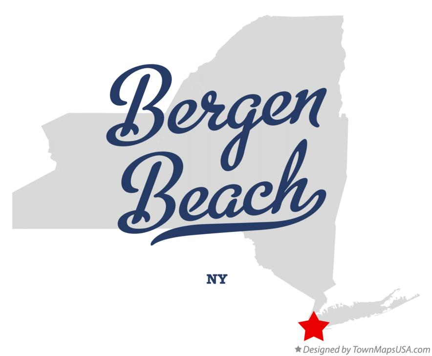 Map of Bergen Beach New York NY