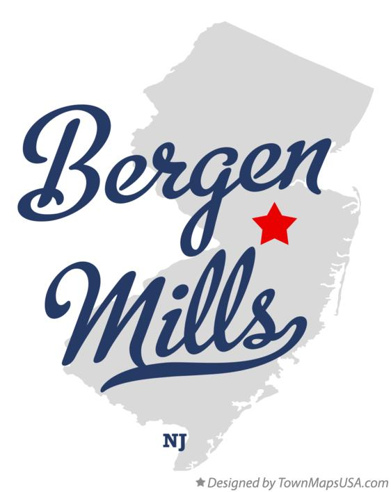 Map of Bergen Mills New Jersey NJ