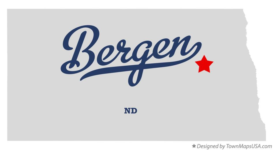 Map of Bergen North Dakota ND