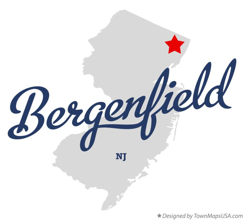 Map of Bergenfield New Jersey NJ