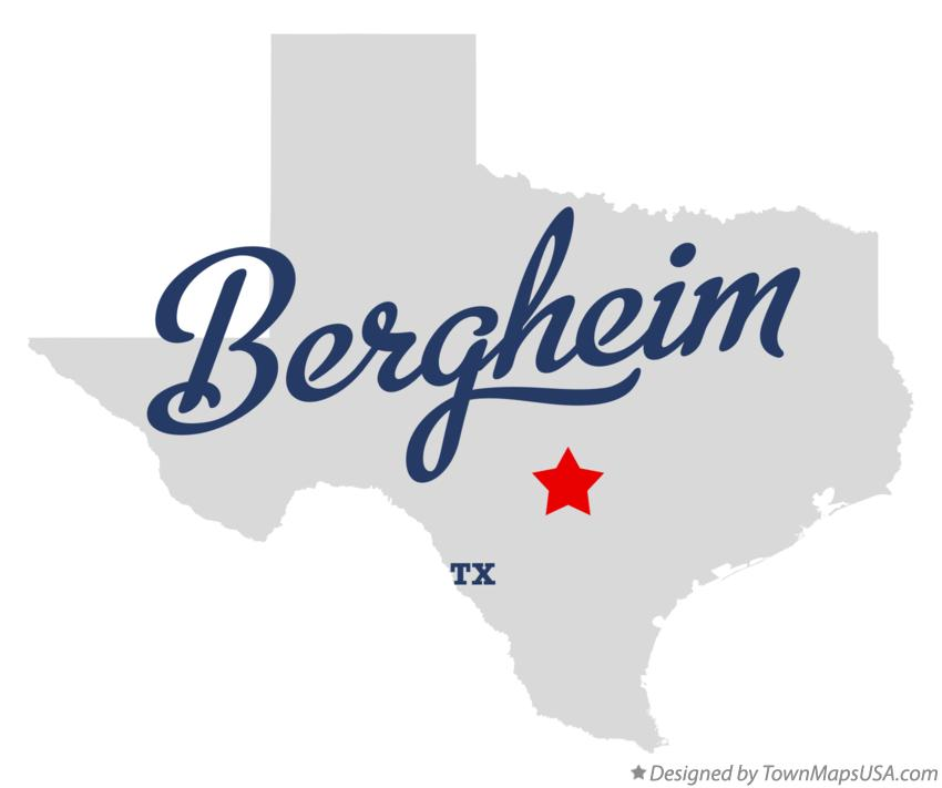 Map of Bergheim Texas TX