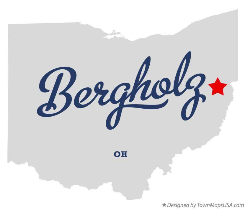 Map of Bergholz Ohio OH