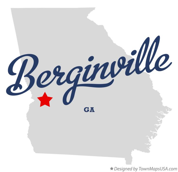 Map of Berginville Georgia GA