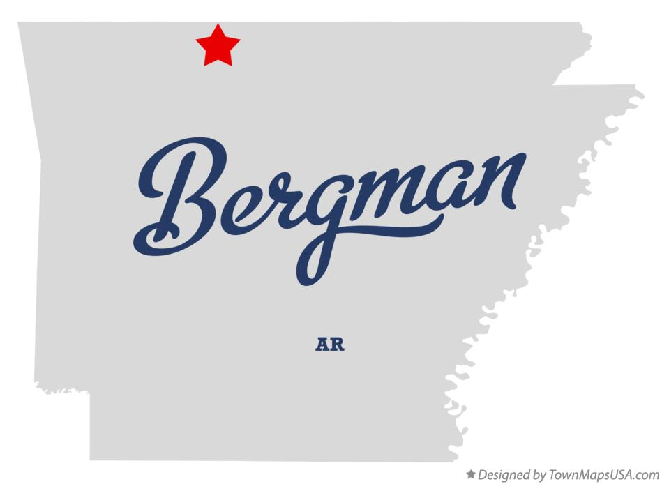 Map of Bergman Arkansas AR