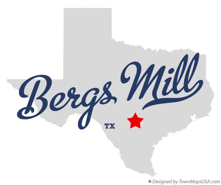 Map of Bergs Mill Texas TX