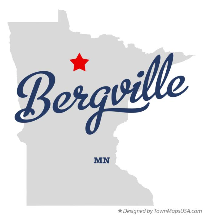 Map of Bergville Minnesota MN