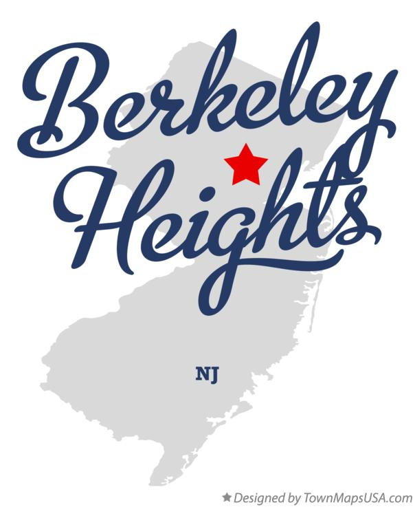 Map of Berkeley Heights New Jersey NJ