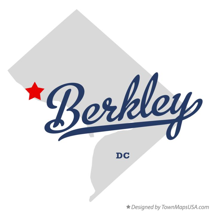 Map of Berkley District Of Columbia DC