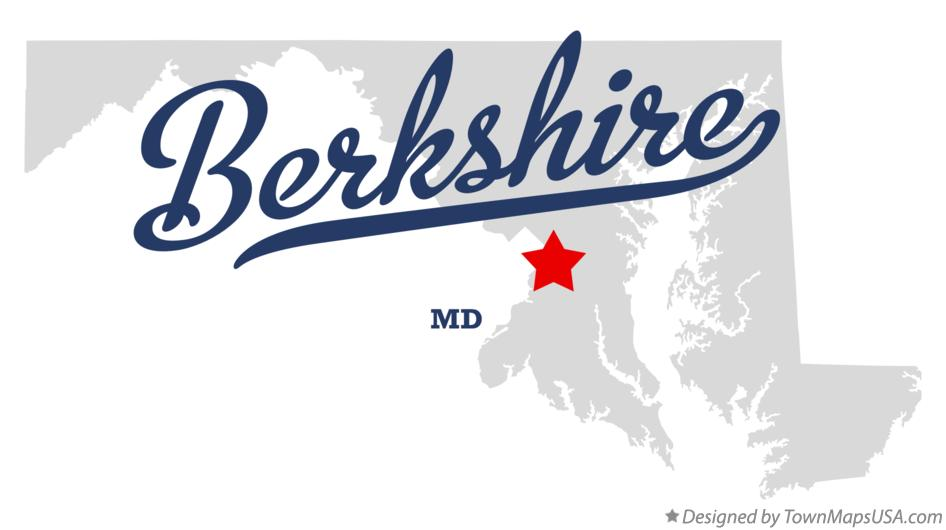 Map of Berkshire Maryland MD