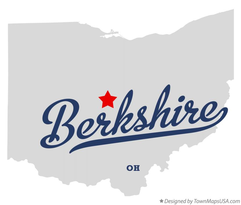 Map of Berkshire Ohio OH