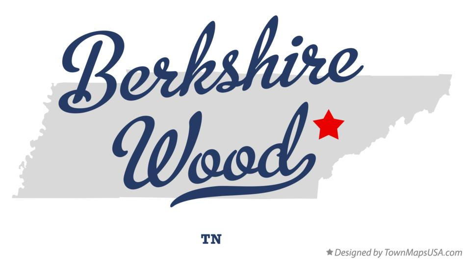 Map of Berkshire Wood Tennessee TN