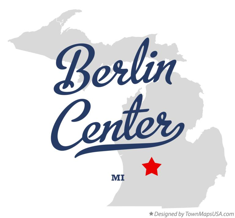 Map of Berlin Center Michigan MI