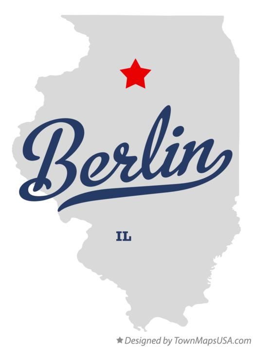 Map of Berlin Illinois IL