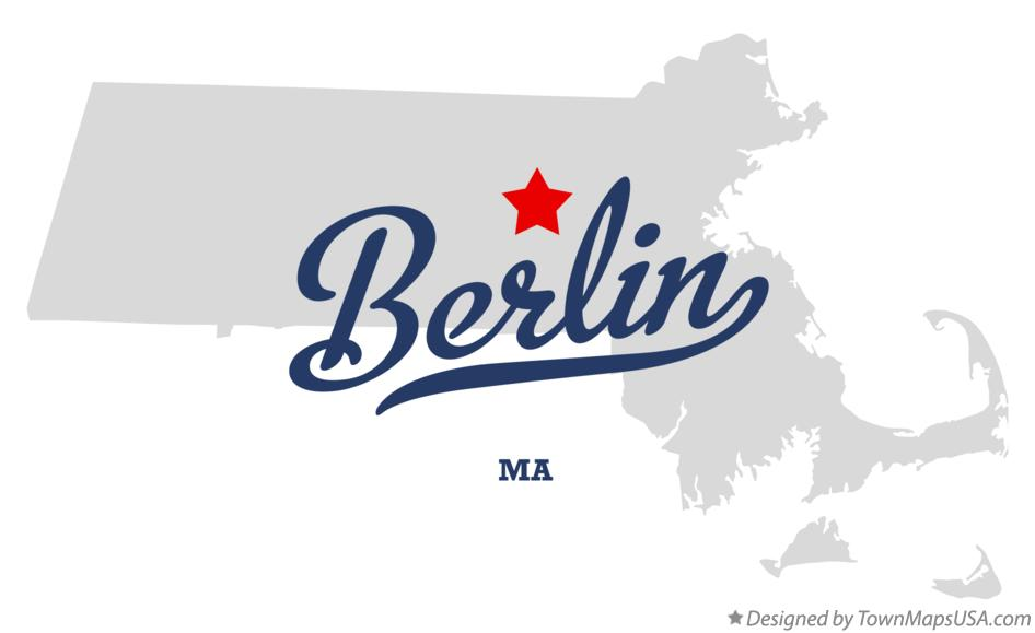 Map of Berlin Massachusetts MA