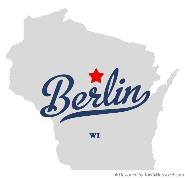 Map of Berlin Wisconsin WI