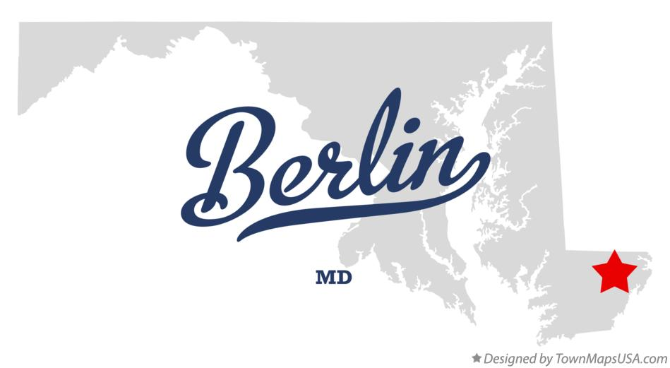 Map of Berlin Maryland MD