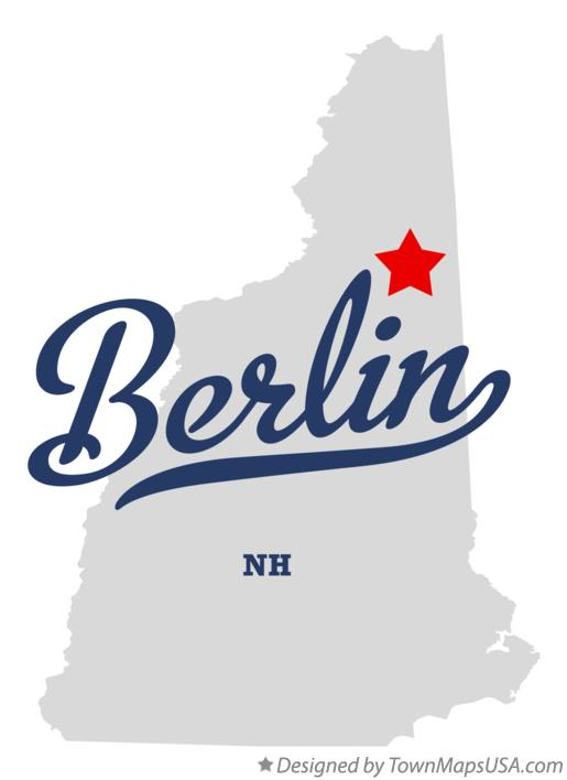 Map of Berlin New Hampshire NH