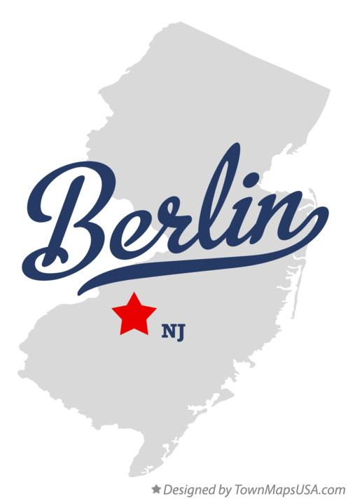 Map of Berlin New Jersey NJ