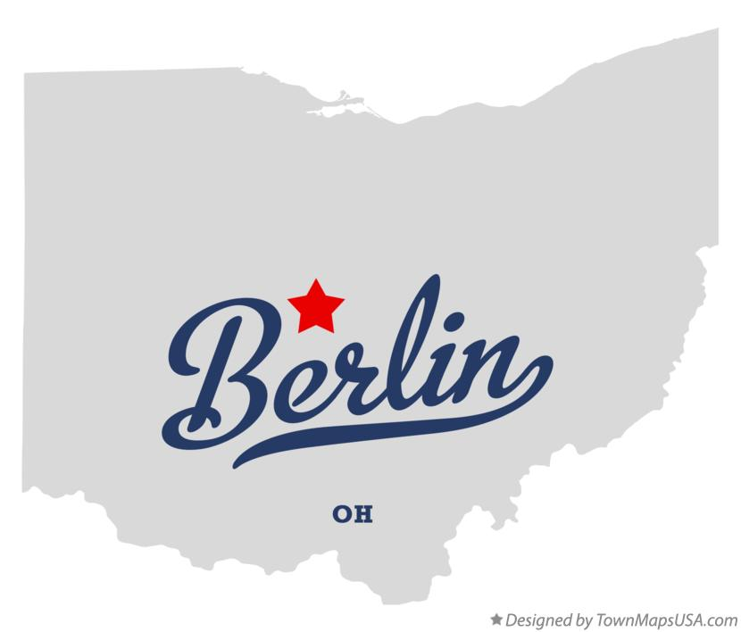 Map of Berlin Ohio OH