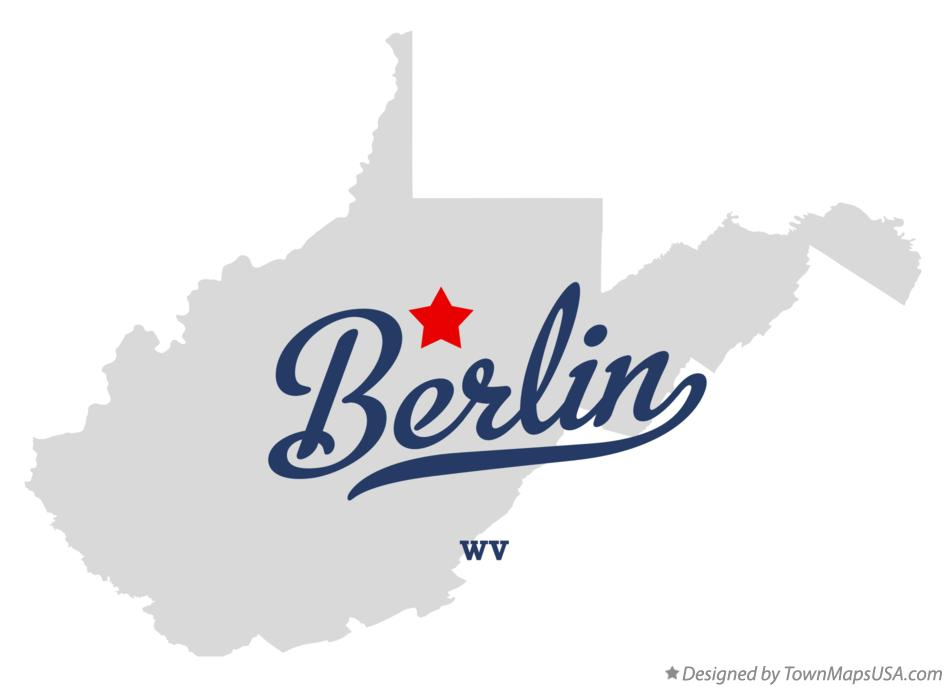 Map of Berlin West Virginia WV