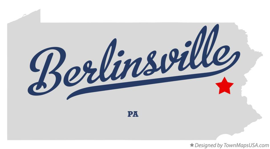 Map of Berlinsville Pennsylvania PA