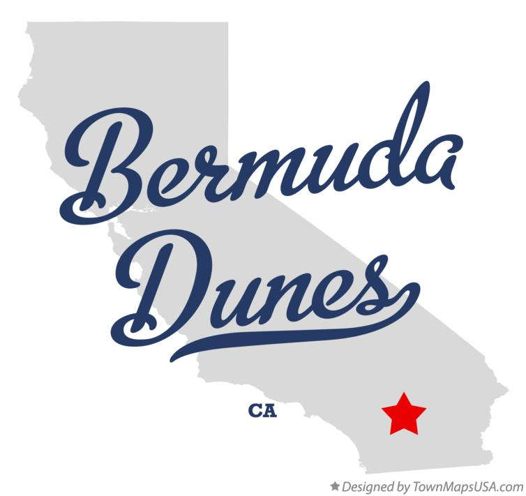 Map of Bermuda Dunes California CA