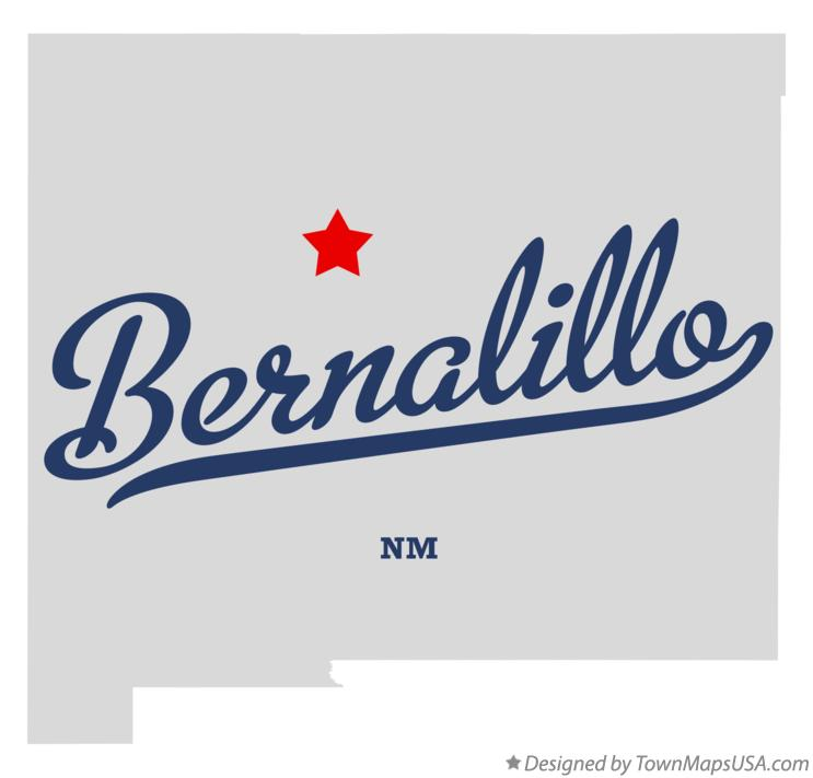 Map of Bernalillo New Mexico NM