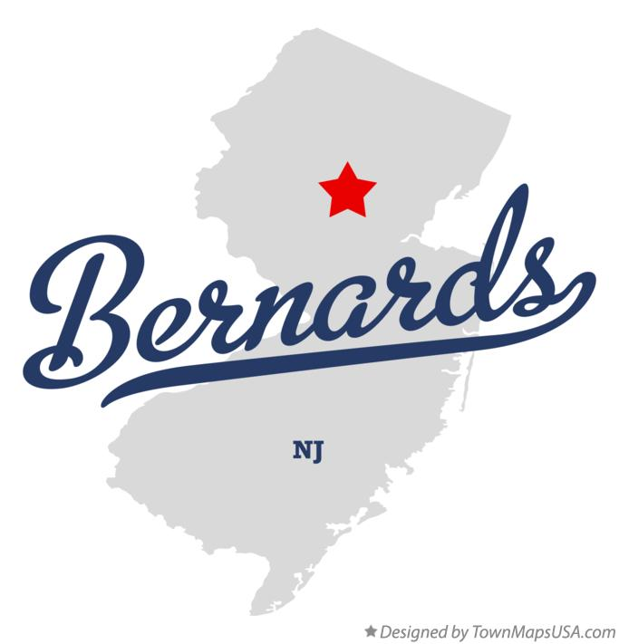 Map of Bernards New Jersey NJ
