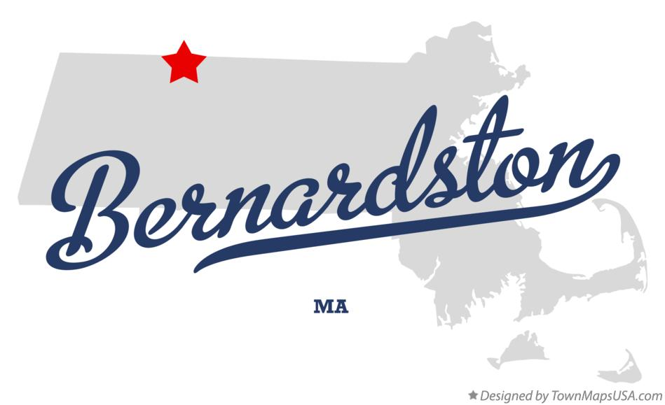 Map of Bernardston Massachusetts MA