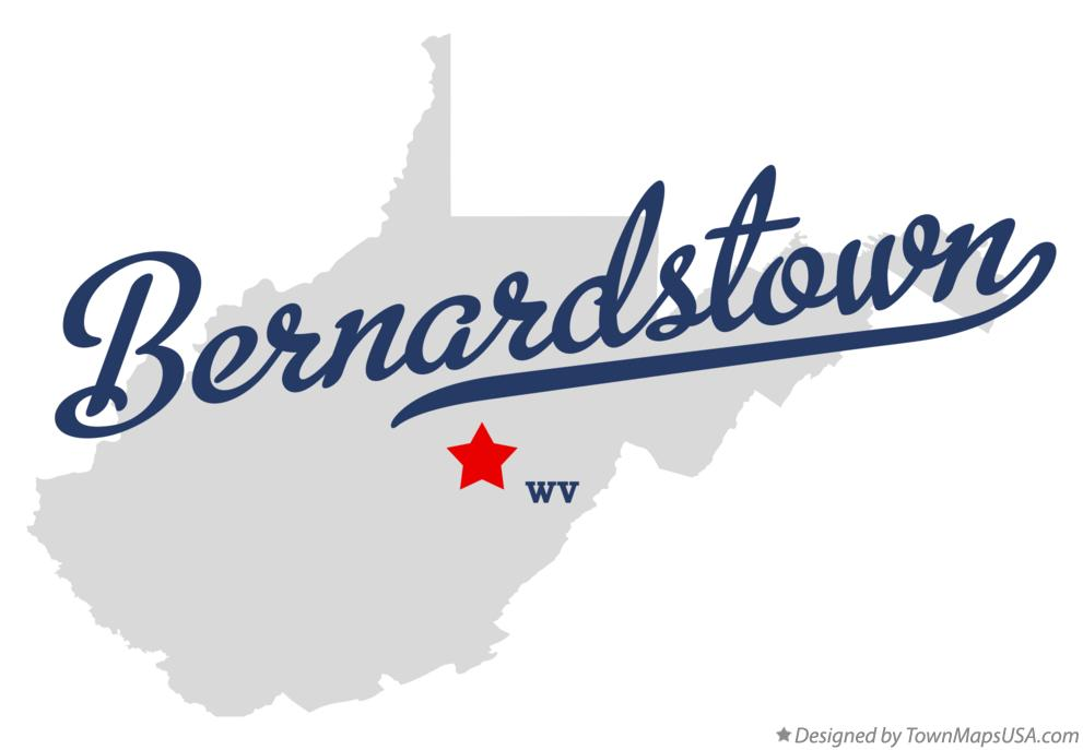 Map of Bernardstown West Virginia WV