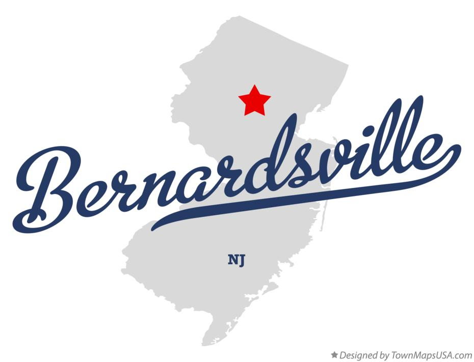 Map of Bernardsville New Jersey NJ