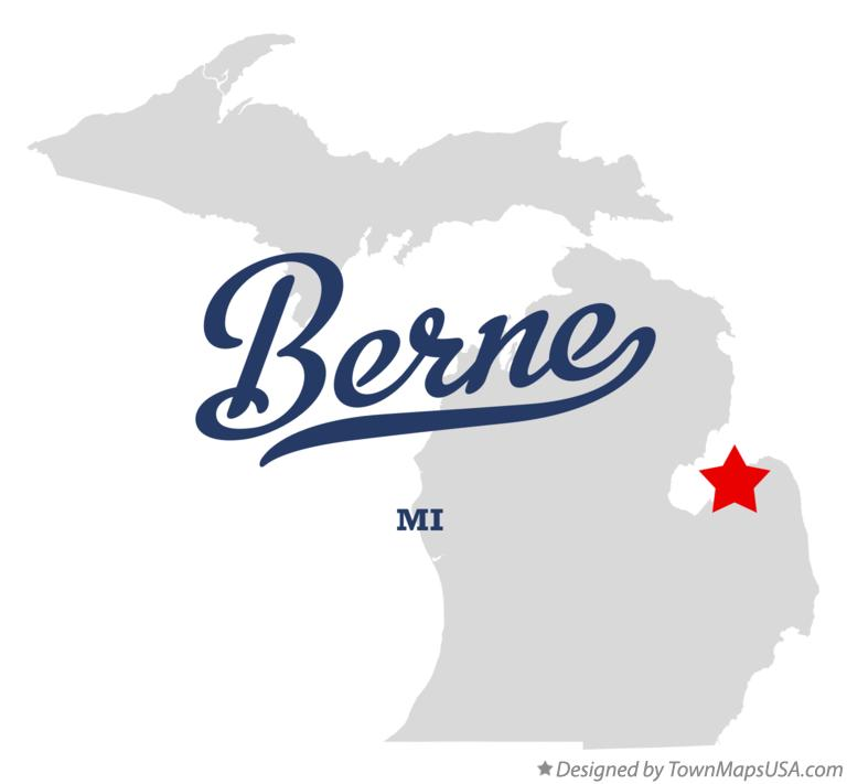 Map of Berne Michigan MI