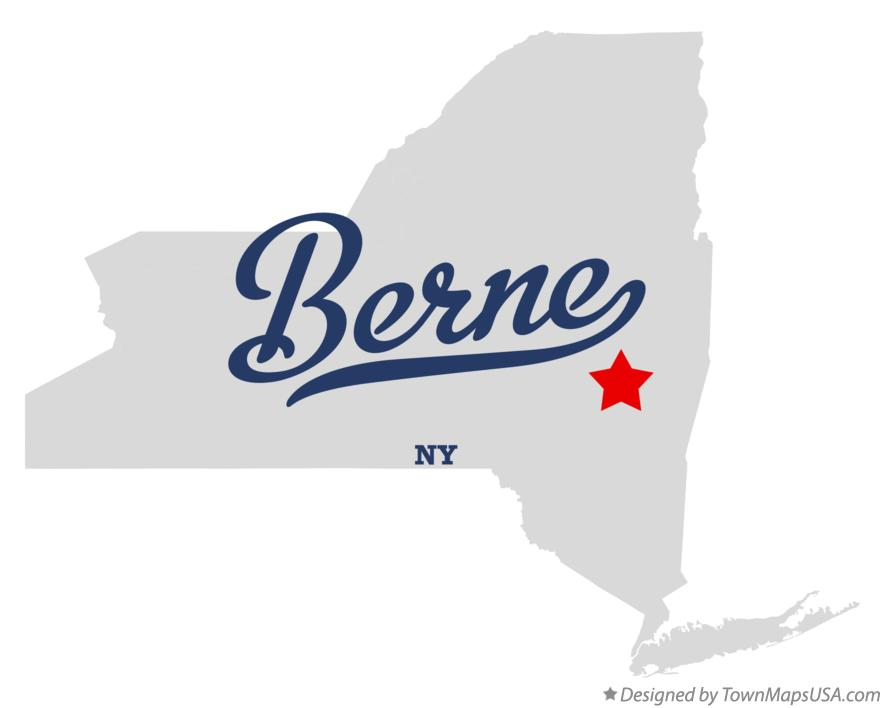 Map of Berne New York NY
