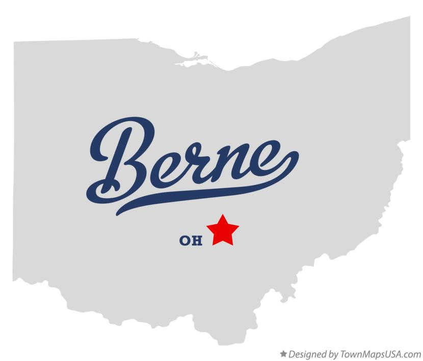 Map of Berne Ohio OH
