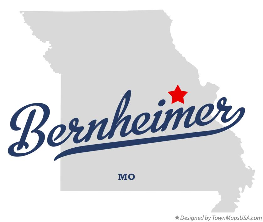 Map of Bernheimer Missouri MO