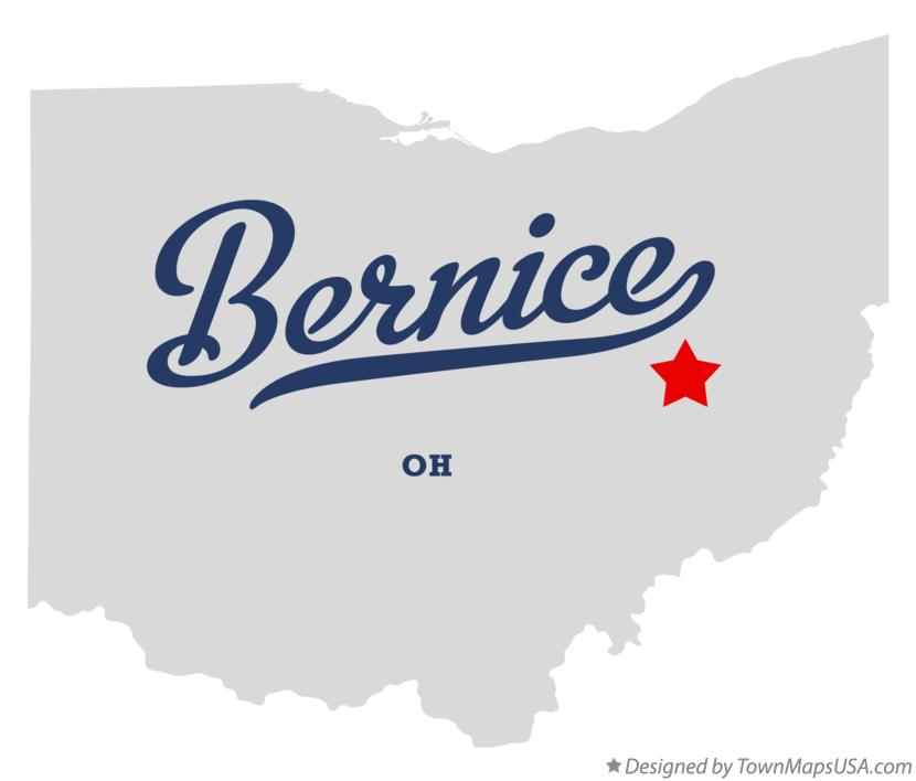 Map of Bernice Ohio OH