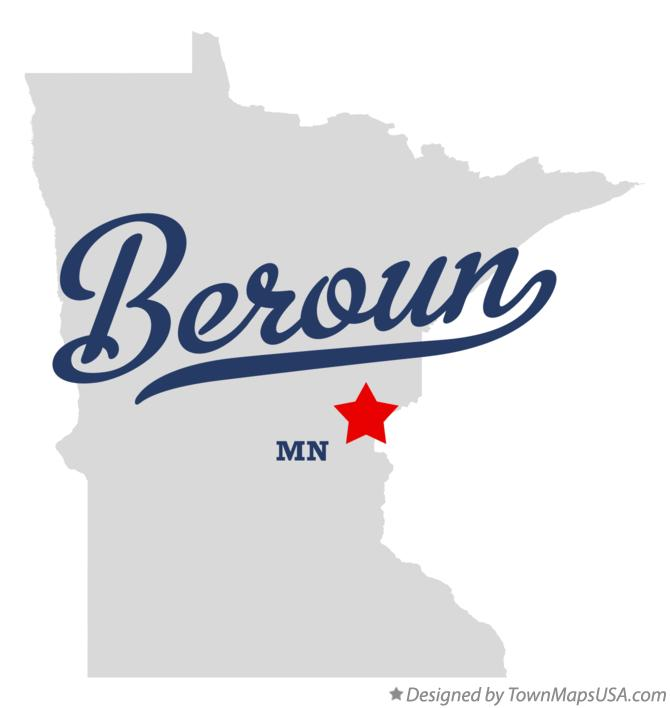 Map of Beroun Minnesota MN