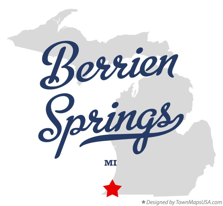Map of Berrien Springs Michigan MI