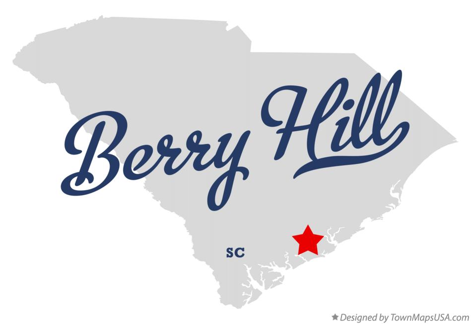 Map of Berry Hill South Carolina SC