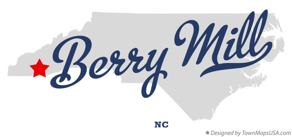 Map of Berry Mill North Carolina NC