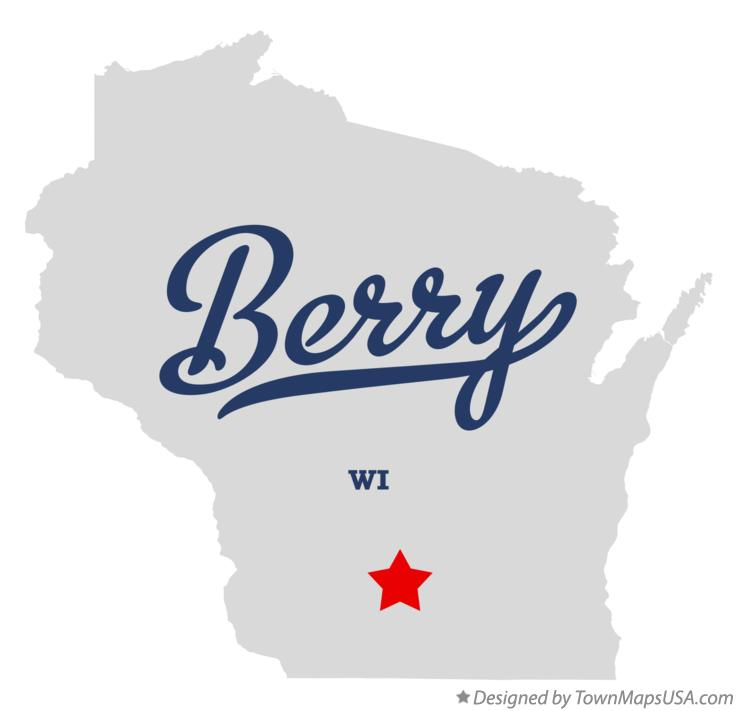Map of Berry Wisconsin WI