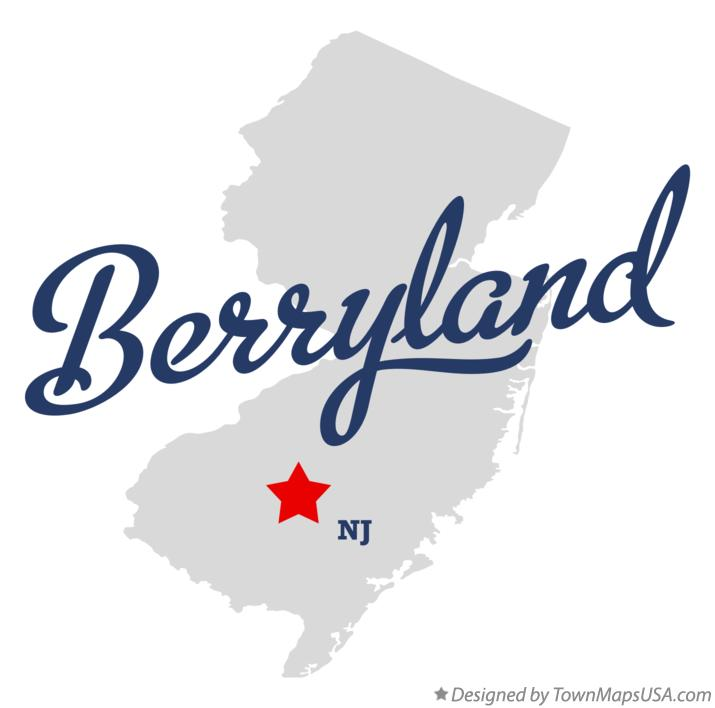 Map of Berryland New Jersey NJ
