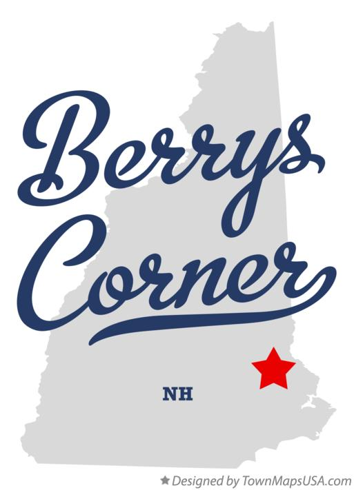 Map of Berrys Corner New Hampshire NH