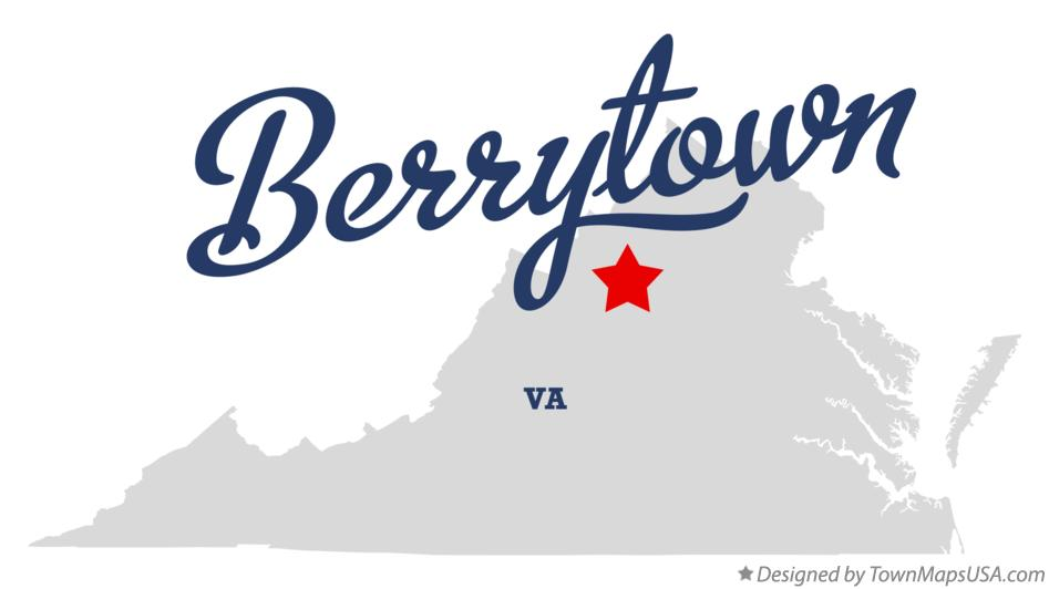Map of Berrytown Virginia VA