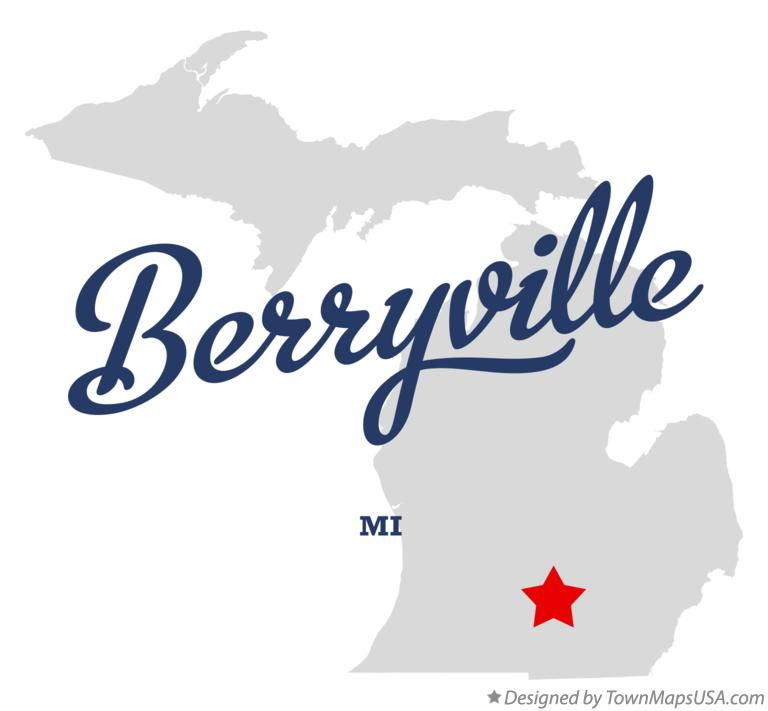 Map of Berryville Michigan MI